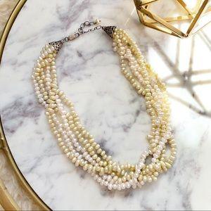 Genuine Freshwater Pearl Multi-Strand Necklace